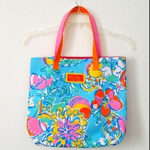 Lilly Pulitzer For Estee Lauder Canvas Tote